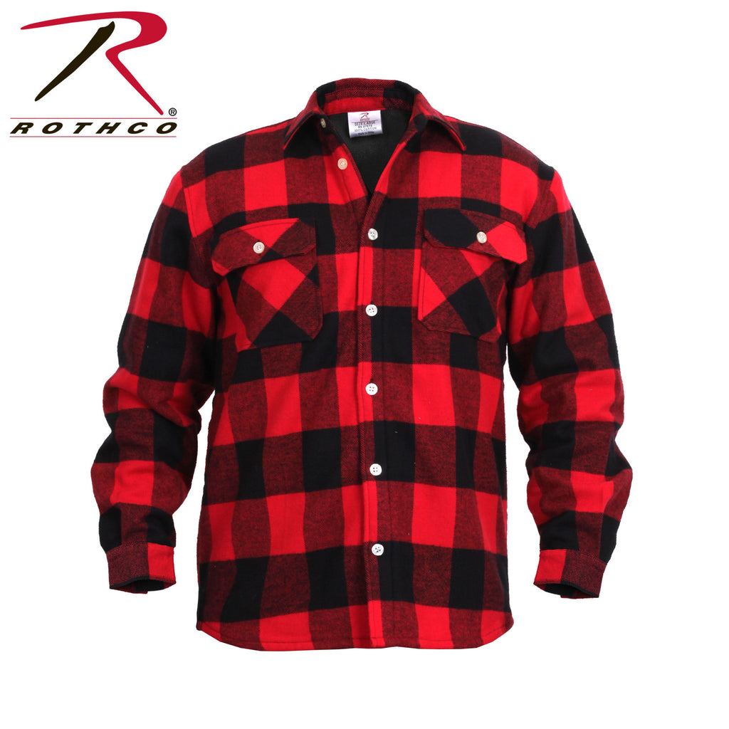 Rothco Fleece Lined Flannel Shirt Red Buffalo Plaid