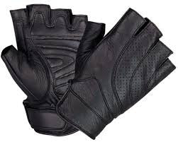UNIK INTERNATIONAL BLACK FINGERLESS GLOVES