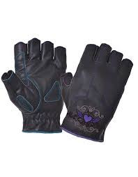 UNIK INTERNATIONAL PURPLE HEART FINGERLESS GLOVES