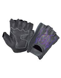 UNIK INTERNATIONAL PURPLE FLAME FINGERLESS GLOVES