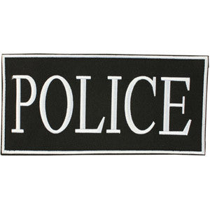 "2""X4"" POLICE PATCH W/ VELCRO BACKING"