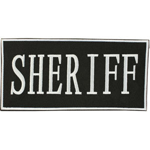 "2""X4"" SHERIFF PATCH W/ VELCRO BACKING"