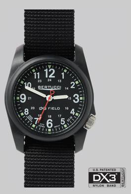 BERTUCCI DX3 BLK NYLON FIELD WATCH