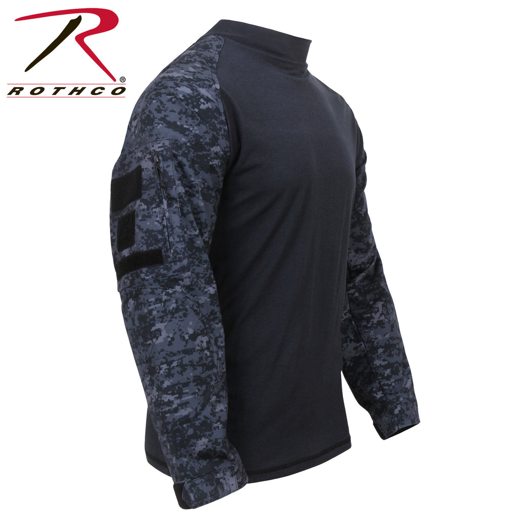 Rothco Military FR NYCO Combat Shirt Midnight Digital Camo