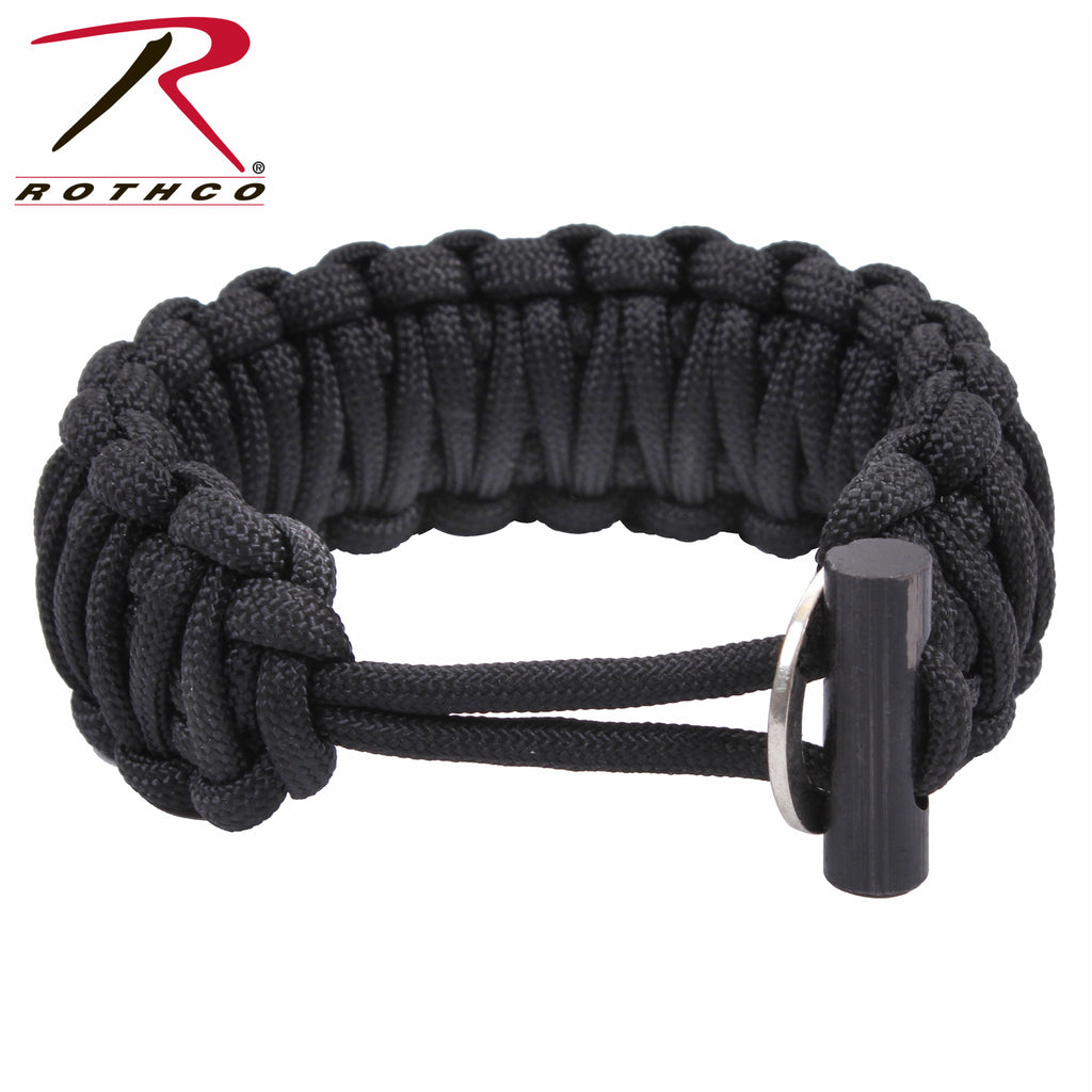Rothco Paracord Bracelet With Fire Starter