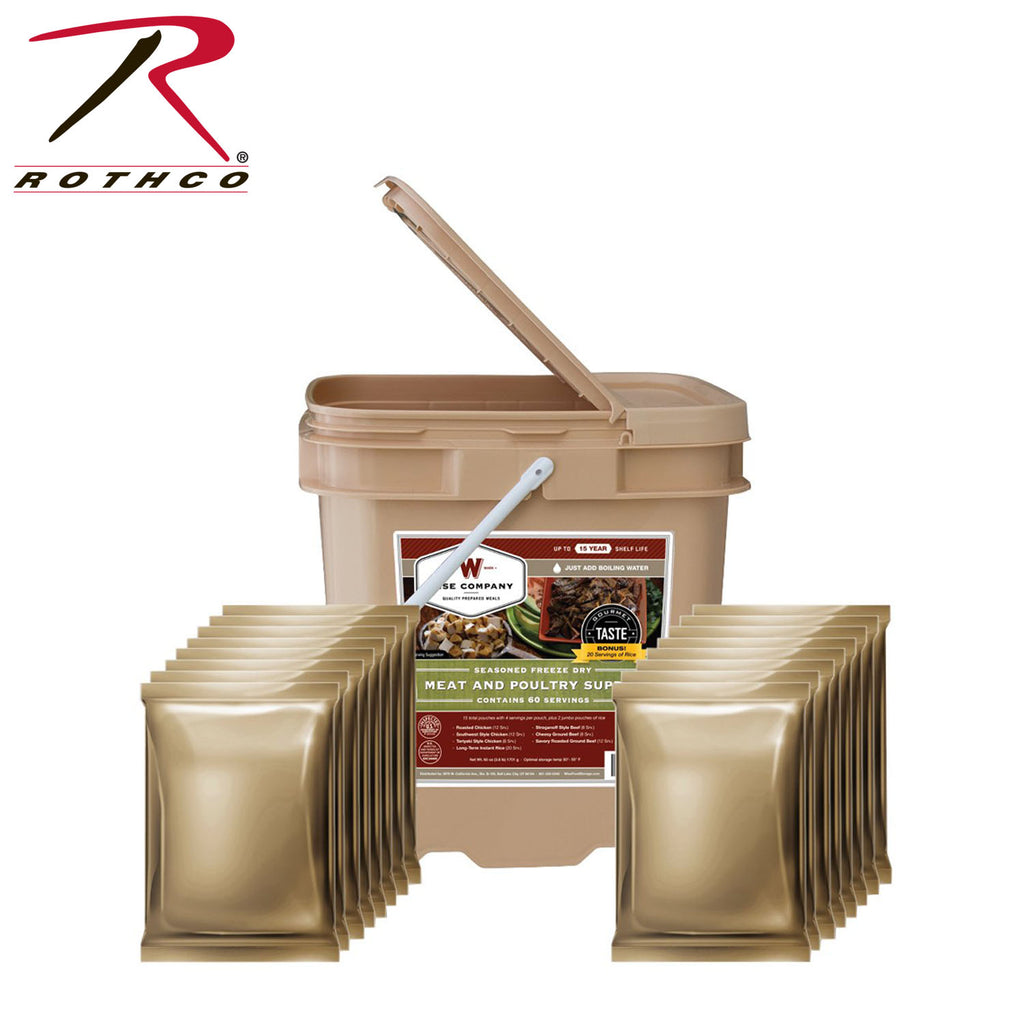 Wise 60 Serving Freeze Dried Meat Grab & Go Bucket