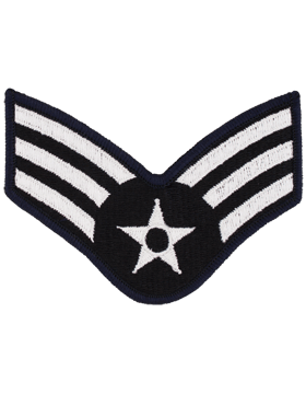 AIR FORCE LARGE BLUE & SILVER SENIOR AIRMAN SEW-ON RANK
