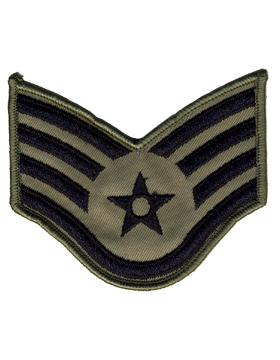 AIR FORCE SMALL ABU STAFF SERGEANT SEW-ON