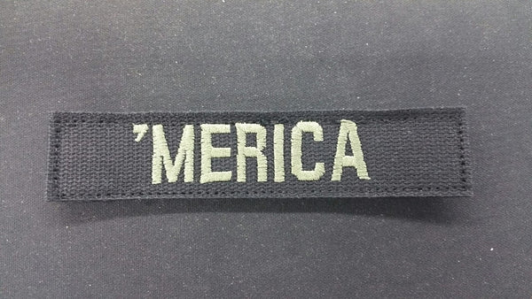 BLACK 'MERICA TAPE WITH OD WRITING & VELCRO