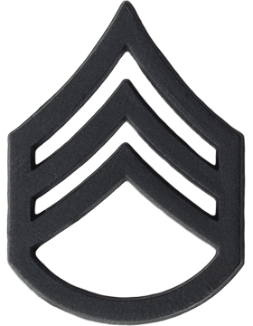 BLACK STAFF SERGEANT PIN