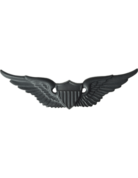 BLACK AVIATOR PIN
