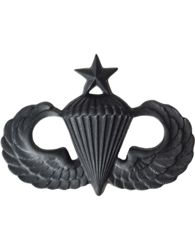 BLACK PARACHUTIST PIN