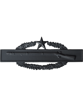 BLACK COMBAT INFANTRYMAN 2ND AWARD BADGE PIN