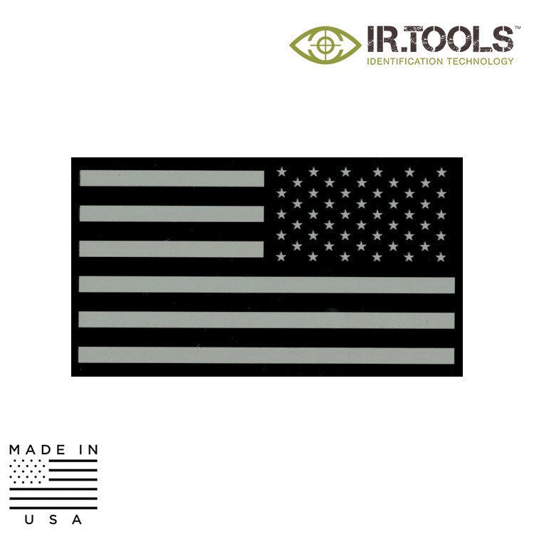 IR TOOLS CID-FLAG-00001 INFRARED IR FLAG PATCH, DESERT TAN - USA (REVERSE)