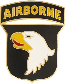 101st Airborne Division with Tab Combat Service Identification Badge