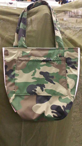 WOODLAND & PINK DIAPER BAG