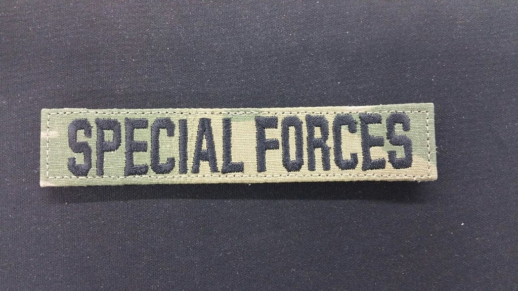 SCORPION / OCP SPECIAL FORCES TAPE WITH BLACK WRITING & VELCRO