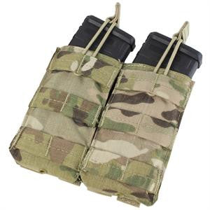 CONDOR MA19-008 Double Open-Top M4 Mag Pouch - MultiCam