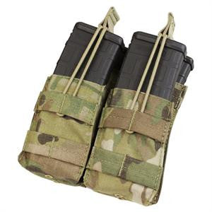 CONDOR MA43-008 Double Stacker Open-Top M4 Mag Pouch - MultiCam