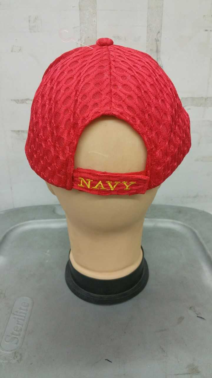 9c929aa6f56 RED MESH U.S. NAVY WE OWN THE SEAS HAT - H B ARMY NAVY STORE