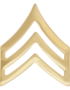 GOLD SERGEANT PIN