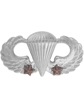 NO SHINE PARACHUTIST WITH TWO COMBAT STARS PIN