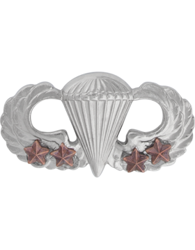 NO SHINE PARACHUTIST WITH FOUR COMBAT STARS PIN