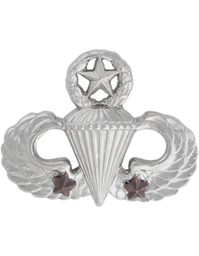 NO SHINE MASTER PARACHUTIST WITH 2 COMBAT STARS PIN
