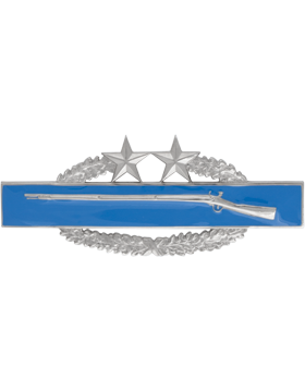 NO SHINE COMBAT INFANTRYMAN 3RD AWARD BADGE PIN