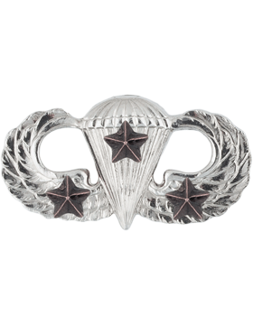NO SHINE MINI PARACHUTIST WITH THREE COMBAT STARS PIN