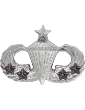 NO SHINE MINI PARACHUTIST WITH 4 COMBAT STARS PIN