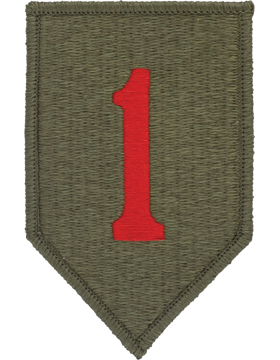 1ST INFANTRY DIVISION VELCRO PATCH WITH VALCRO