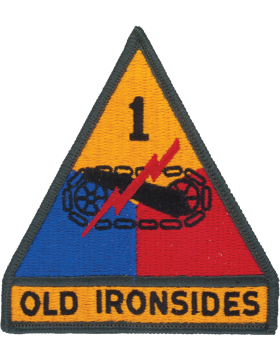 1ST ARMOR DIVISION SEW-ON PATCH FULL COLOR