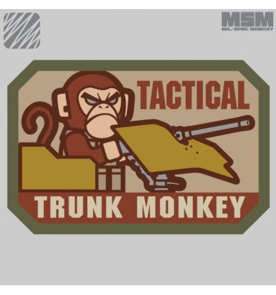 TACTICAL TRUCK MONKEY MORALE PATCH VELCRO