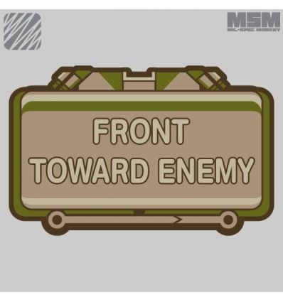 FRONT TOWARD ENEMY MORALE PATCH VELCRO