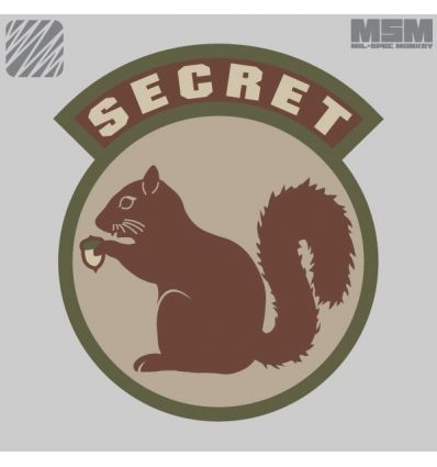 SECRET SQUIRREL MORALE PATCH VELCRO