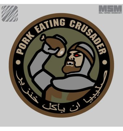PORK EATING CRUSADAR MORALE PATCH VELCRO