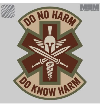 DO NO HARM - SPARTAN MORALE PATCH VELCRO