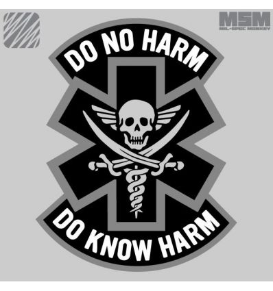 DO NO HARM - PIRATE MORALE PATCH VELCRO