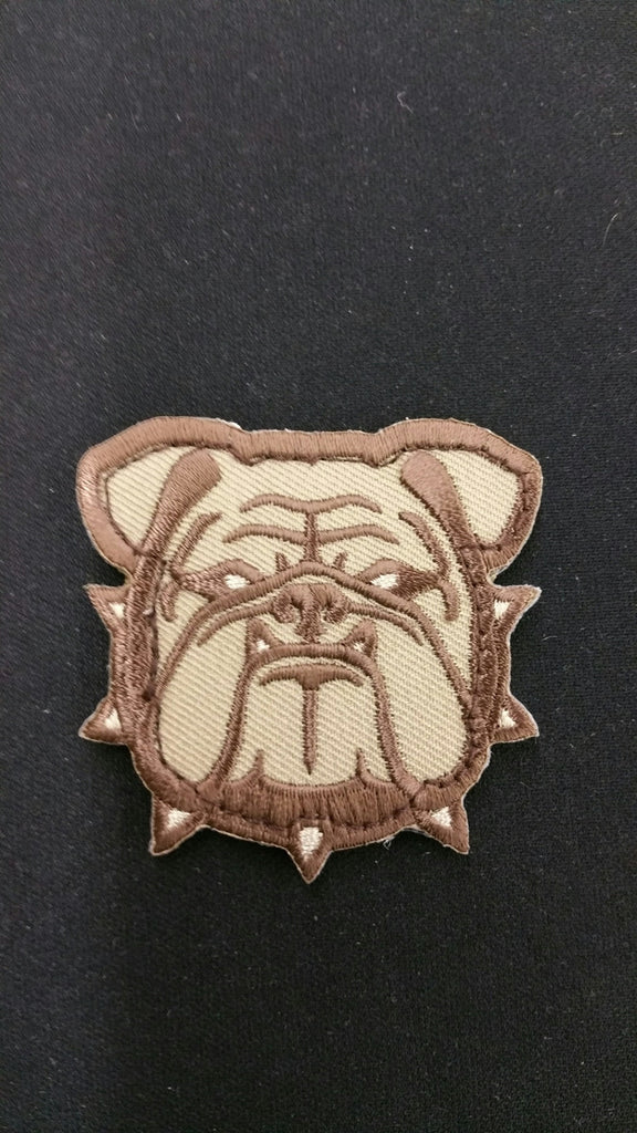 SMALL BULLDOG HEAD VELCRO BACKING