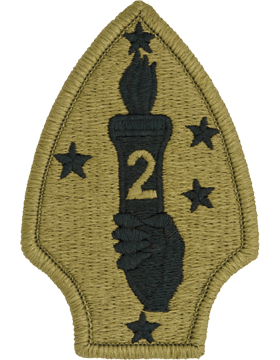 SCORPION 2nd MARINE DIVISION VELCRO PATCH