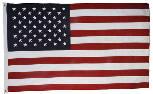 3'X5' COTTON EMBROIDERED AMERICAN FLAG