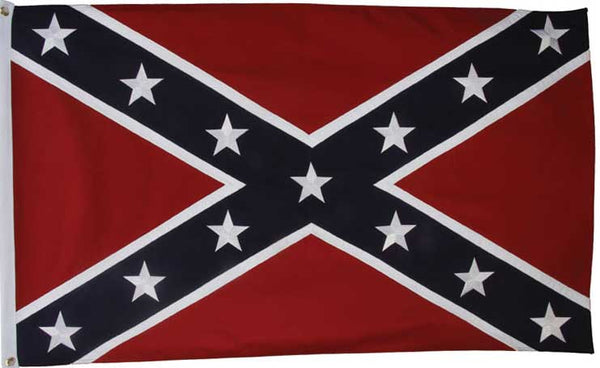 3'X5' 2 SIDED EMBROIDERED CONFEDERATE FLAG
