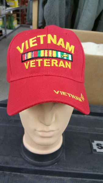 RED VIETNAM VETERAN HAT