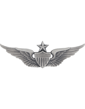 SILVER OXIDE SENIOR AVIATOR PIN
