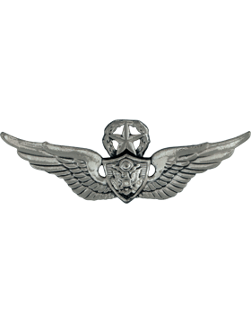 SILVER OXIDE MASTER AIR CREWMAN PIN