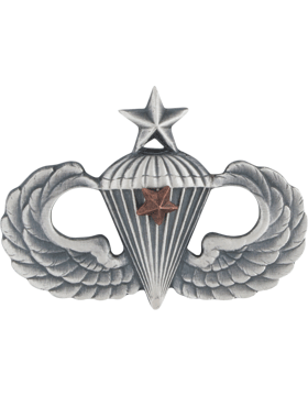 SILVER OXIDE SENIOR PARACHUTIST WITH 1 COMBAT STAR