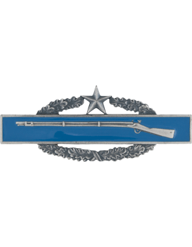 SILVER OXIDE COMBAT INFANTRYMAN 2ND AWARD BADGE PIN