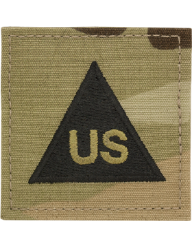 SCORPION US LETTERS IN BLACK TRIANGLE VELCRO