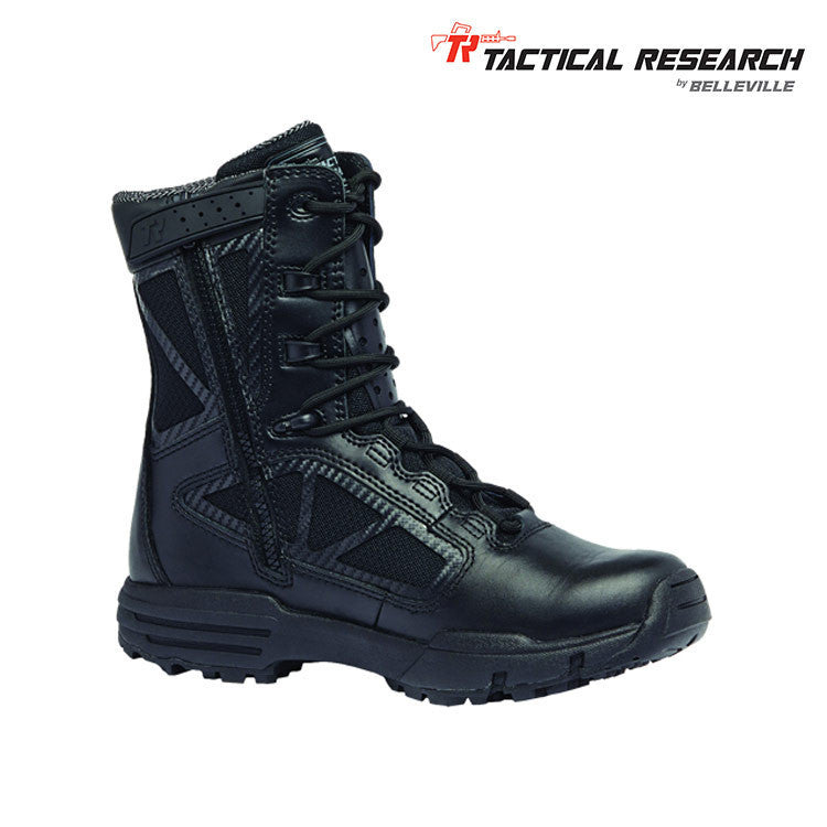 TACTICAL RESEARCH CHROME TR998Z WP CT WATERPROOF SIDE ZIP COMP TOE BOOTS